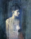 Portrait of seniora Soler. Girl in a chemise 1903