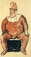 Seated fat clown 1905