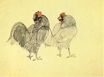 Two roosters 1905