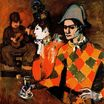 At Lapin Agile. Harlequin with Glass 1905