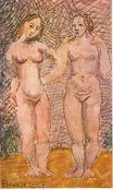 Two naked women 1906