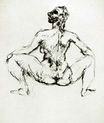 Seated female nude 1907