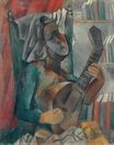 Woman with mandolin 1909