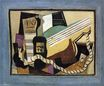 Partition, bottle of port, guitar, playing cards 1917