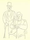 Portrait of Diaghilev and Seligsberg 1917