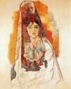 Woman with spanish dress 1917