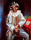 Pierrot with a mask 1918