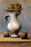 Still life with pitcher and apples 1919
