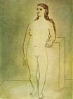 Standing female nude 1923