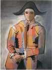 Harlequin with his hands crossed. Jacinto Salvado 1923