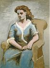 Woman seated in an armchair 1923
