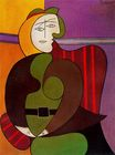 Seated Woman in a Red Armchair 1931