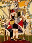 Seated woman in garden 1938