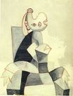 Woman Seated in a Grey Armchair 1939