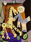 Claude, two years old, and his hobby horse 1949