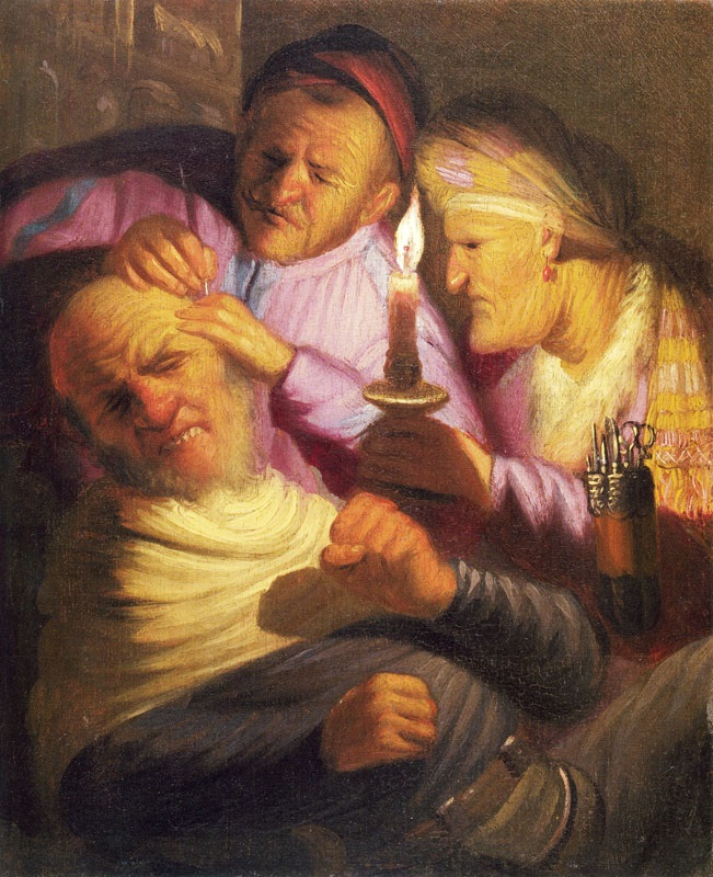 Rembrandt van Rijn - The Operation. Touch 1625