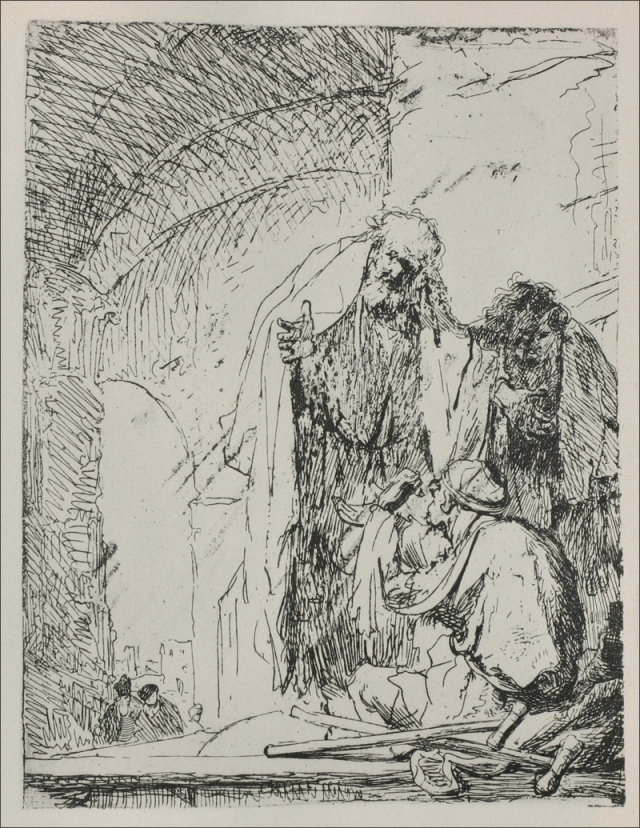 Rembrandt van Rijn - Saint Peter and Saint John at the Gate of the Temple 1630