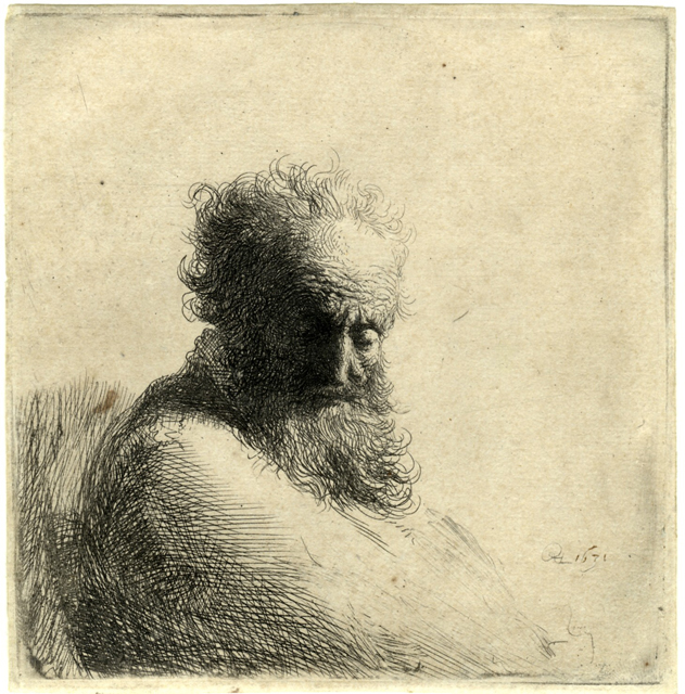 Rembrandt van Rijn - Bust of an Old Bearded Man 1631