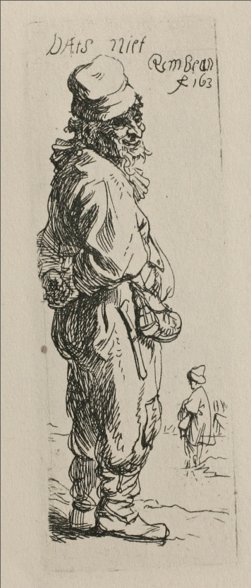 Rembrandt van Rijn - A Beggar and a Companion Piece, Turned to the Right 1634
