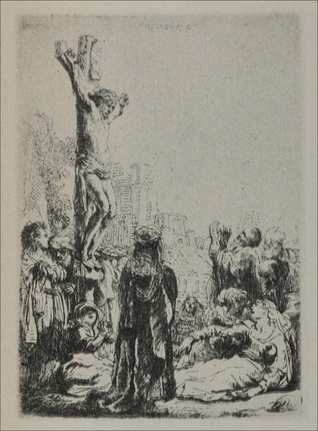 Rembrandt van Rijn - The Crucifixion a Square Small Plate 1634