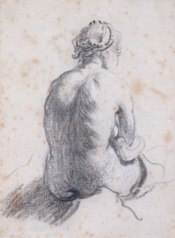 Rembrandt van Rijn - A Study of a Female Nude Seen from the 1634