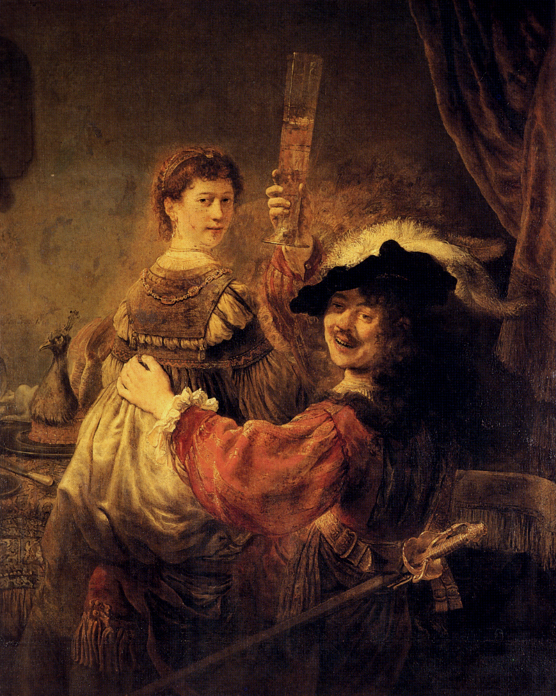 Rembrandt van Rijn - Self-portrait with Saskia in the Parable of the Prodigal Son 1635