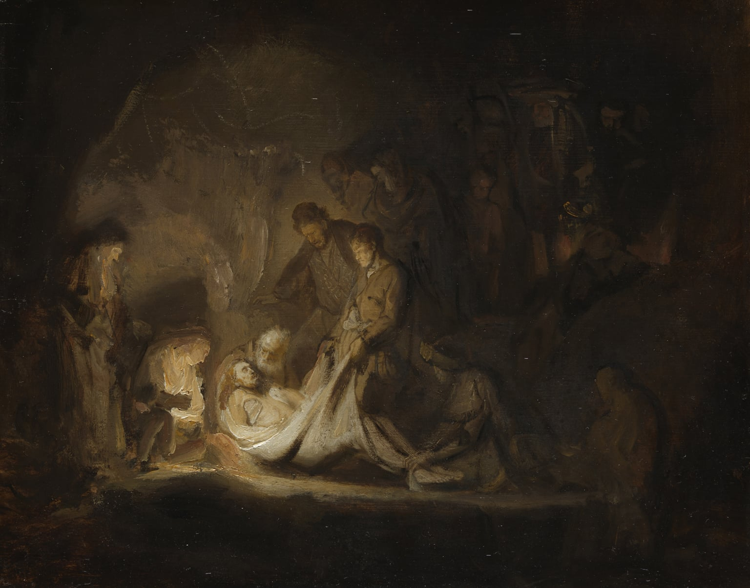 Rembrandt van Rijn - The Entombment 1635