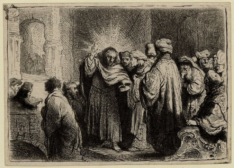 Rembrandt van Rijn - The tribute money 1635