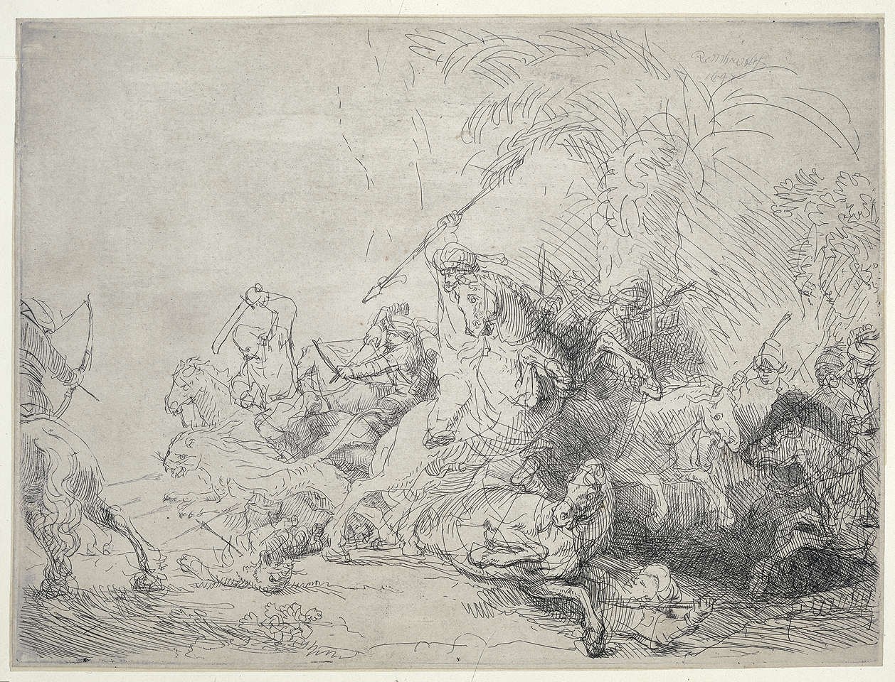 Rembrandt van Rijn - The large lion hunt 1641