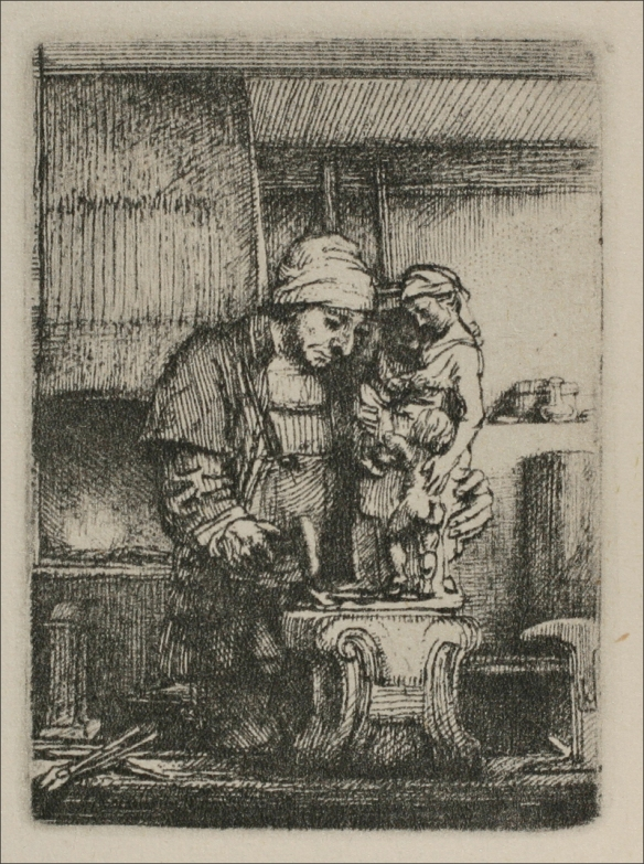 Rembrandt van Rijn - An Artist Drawing from the Model 1648