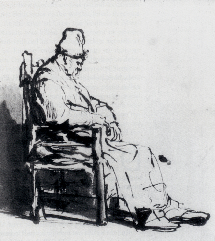 Rembrandt van Rijn - Seated Old Man, possibly Rembrandt`s father