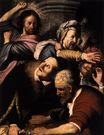 Rembrandt van Rijn - Christ Driving The Money Changers From The Temple 1626