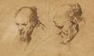 Rembrandt van Rijn - Two Studies of the Head of an Old Man 1626