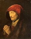 Rembrandt van Rijn - Old Woman in Prayer 1629-1630