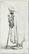 Rembrandt van Rijn - Oriental Leaning on a Stick 1629