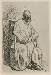 Rembrandt van Rijn - A Beggar Sitting in an Elbow Chair 1630<