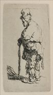 Rembrandt van Rijn - A Beggar Standing, Seen in Profile to the Left 1630