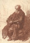 Rembrandt van Rijn - Old Man Seated in an Armchair, Full-length 1631