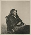 Rembrandt van Rijn - Rembrandt's Mother, Seated, Looking to the Right 1631