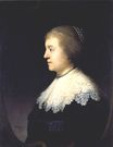 Rembrandt van Rijn - Portrait of Amalia van Solms, Wife of Frederik Hendrik of Orange 1632