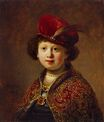 Rembrandt van Rijn - A Boy in Fanciful Costume (workshop Rembrandt) 1633