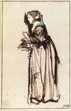 Rembrandt van Rijn - Woman Standing with Raised Hands 1633