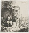 Rembrandt van Rijn - Christ and the woman of Samaria among ruins 1634