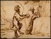 Rembrandt van Rijn - Satan Tempting Christ to Change Stones into Bread 1635-1640