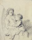 Rembrandt van Rijn - A Nurse and an Eating Child 1635