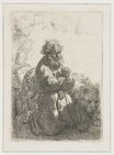 Rembrandt van Rijn - St. Jerome kneeling in prayer, looking down 1635