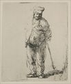 Rembrandt van Rijn - A Ragged Peasant with his Hands Behind Him 1635