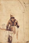 Rembrandt van Rijn - Woman Wearing a Costume of Northern Holland 1636