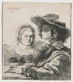 Rembrandt van Rijn - Self-portrait with Saskia 1636