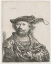 Rembrandt van Rijn - Self-portrait in velvet cap and plume 1638